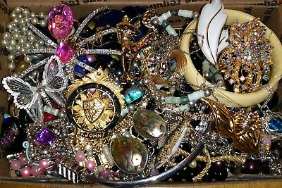 Huge Vintage To Now Junk Drawer Jewelry Lot Estate Find Unsearched Untested #823