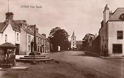Gifford from South  Nr Haddington unused RP old pc C Bruce
