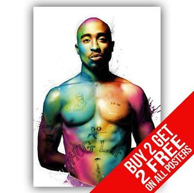 2Pac Tupac Poster Art Print A4 / A3 Size - Buy 2 Get Any 2 Free