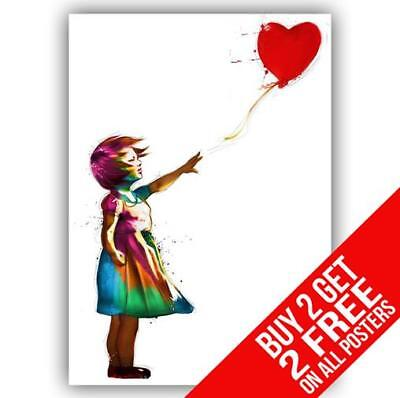 Banksy Girl With Balloon Hope Poster Art Print A4 / A3 - Buy 2 Get Any 2 Free