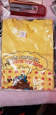 Vintage Cap'n Crunch Space Invaders tee 1982 Sz. 10-12 M collectable Ad promo