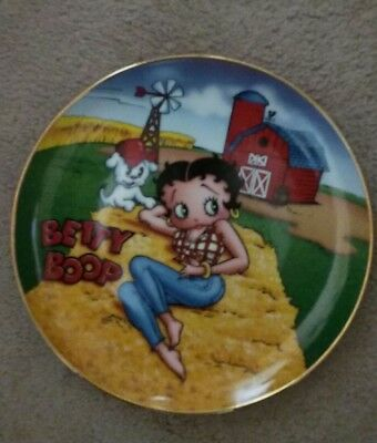 "Limited Edition Betty Boop Plate ""Barnyard Beauty""  by The Danbury Mint"