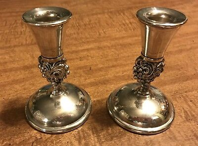 Set of 2 Vintage Valero by Falstaff Silverplate Candlesticks from Spain
