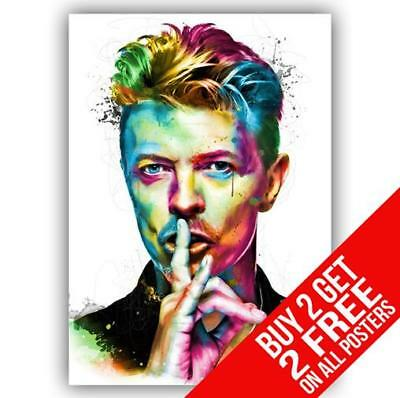 David Bowie Ziggy Stardust Poster Art Print A4 A3 Size - Buy 2 Get Any 2 Free