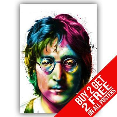 John Lennon The Beatles Poster Art Print A4 A3 Size - Buy 2 Get Any 2 Free