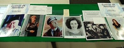 Collection of 27 Authenticated Celebrity Autographed Photographs - NCA7820