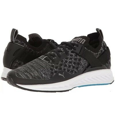 New Men s Puma Ignite EvoKnit Lo Running Shoes Sneakers 18990401 Size 10.5  Black 3ba303de8