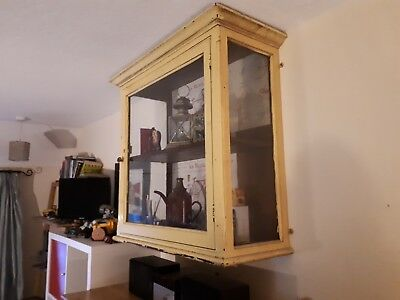 Antique Victorian - Edwardian Glass Display Cabinet, Wall mounted shop taxidermy