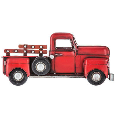 Vintage Style Old Red Truck Metal Wall Decor Country Farmhouse. Great Gift