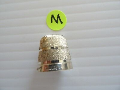 SHINY Sterling Silver Sewing Thimble-Birmingham England Hallmark