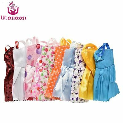 12 Mix Sorts Beautiful Handmade Party Dress Fashion Clothes For Barbie Doll Kids