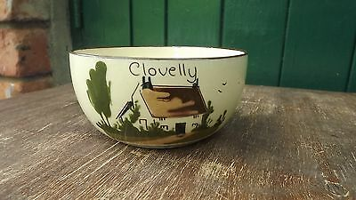 """Old Clovelly MottoWare Babbacombe Torquay Cottage Bowl """"Heaven Send thee many."""""""