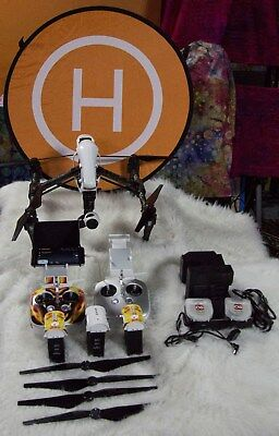 DJI Inspire 1 w/ X3 Camera Two Remotes 3 Batteries & More Works Flawlessly