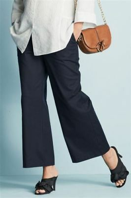 N£Xt Maternity Navy Wide Leg Smart Trousers Work Size 8 10 12 14 Bnwt £ 36