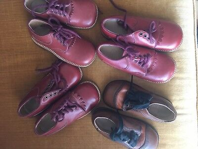 NOS 4 Pairs Vintage Childrens Shoes Leather Child Life New