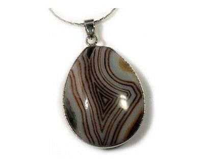 19thC Antique 81ct Agate Ancient Celtic Viking Amulet Protects Against Dragons