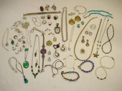 NICE Mixed Lot of Sterling Silver & Semi Precious Stone Jewelry 16 Ounces