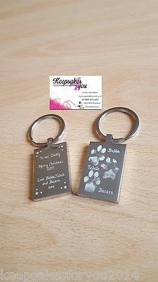 Customised Engraved Paw Print Gift Keepsake - Inkless Kit for Dog Cat, Pets