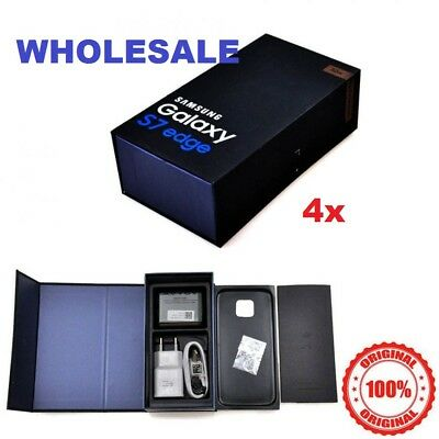 Lot of 5 Samsung Galaxy S7 EDGE Box Full Set Accessories Charger Cable Earbuds