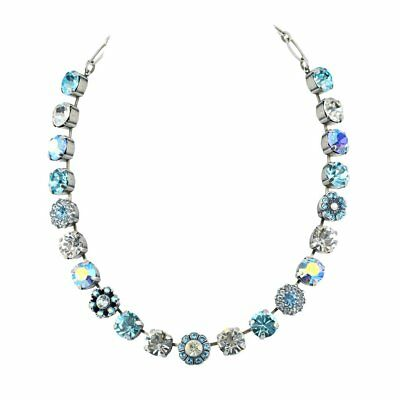 Mariana Italian Ice Large Silver Plated Crystal Pendant Necklace
