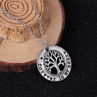 925 Sterling Silver Forever In My Heart Tree of Life Necklace (Pendant + Chain)