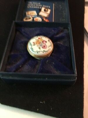 Halcyon Enameled Trinket Box in Original Box With Story-made In Bilston, England