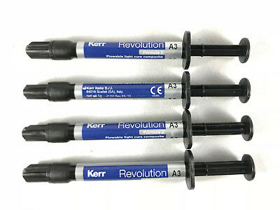 Kerr REVOLUTION Formula 2 Flowable Light Cure Composite 1g Syringe + Tips -FDA