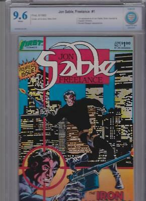 Jon Sable #1 CBCS 9.6 2nd Highest grade. Perfectly Centered with White Pages.