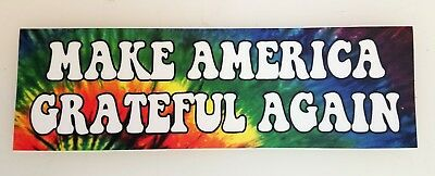 "MAKE AMERICA GRATEFUL AGAIN 8"" x 2.5"" Tie Dye Die Cut Decal - The Grateful Dead"