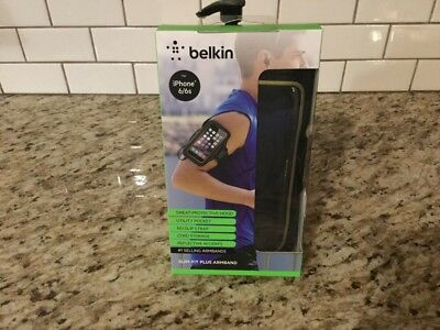 Brand New Belkin iPhone 6/6s SLIM-FIT Plus Armband Black With Gold Accent