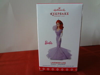 Hallmark Ornament Barbie Lavender Luxe Member Exclusive 2017 Mint In Box