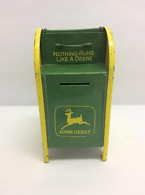 1998 Gearbox John Deere Mailbox Metal Coin Bank Limited Edition (No Key)