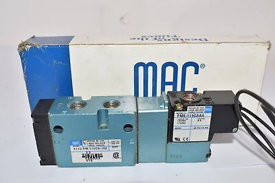 Mac Valves 811C-Pm-114Ca-152 Solenoid Valve 5 Way 120V 50/60Hz
