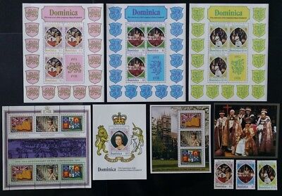 Dominica,Niue & Pitcairn IS. QEII 25th Anniversary Coronation 1978 Stamps MNH