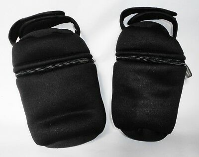 TOMMEE TIPPEE Black Closer to Nature Insulated Bottle Carrier/Warmer 2X