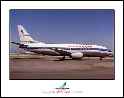 Piedmont Airlines Boeing 737-301 11x14 Photo (K058RGET11X14)