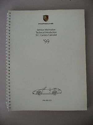 Porsche 911 996 Carrera Cabriolet Service Information 1999 Technical Manual book
