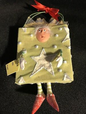 Dept. 56 Krinkles By Patience Brewster Green Shopping Bag