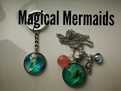 Code 394 Magical Mermaid cherry  quartz Infused Necklace Magic Myth Sea treasure