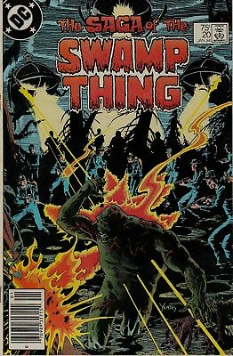 The Saga of the SWAMP THING #20 (Jan1984) Fine+ Cond.,1st Alan Moore story.KEY!