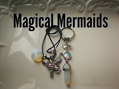 Code 394 Magical Mermaid opalite pendulum Infused Necklace Magic Sea treasure