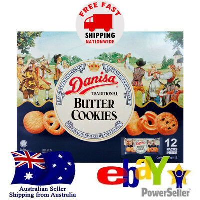Danisa Danish Traditional Butter Cookies Biscuit Pretzel 12 packs x 31g Halal