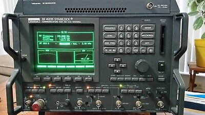 Schlumberger SI 4031 Stabilock Communication Analyzer, 400kHz - 1GHz Works Fine
