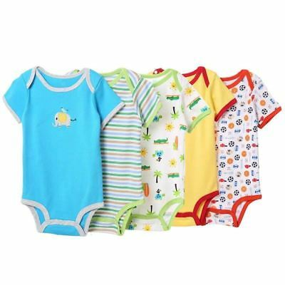 Baby boy jumpsuit 5 pcs/lot Short-sleeve cotton rompers Newborn