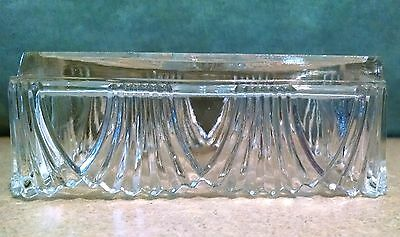 Vintage Cut Glass Rectangular Butter Or Condiment Dishes Set Of Two Clear Cut