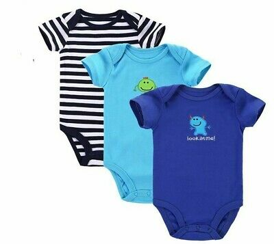 Baby Boys Girls Rompers Set 3pcs/lot Clothes Infant Animal 100% Cotton Newborn