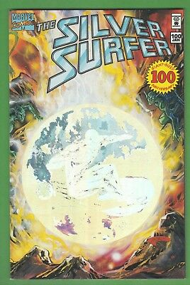 """Silver Surfer Vol 3 #100 """"Temptation"""" (pt. 4 of 4) Hologram Cover 100th Issue"""