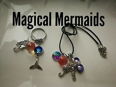 Code 395 Magical Mermaid cherry  quartz Infused Necklace Magic Myth Sea treasure