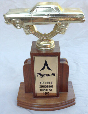 Plymouth Troube Shooting Contest 1965 RARE VINTAGE Trophy - Art Deco Base Award