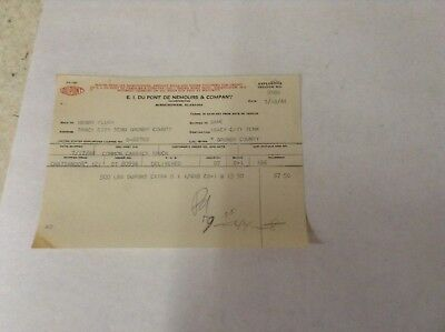 Dupont Invoice from 1949 for 500lbs of Extra D Dynomite to Tracy City TN